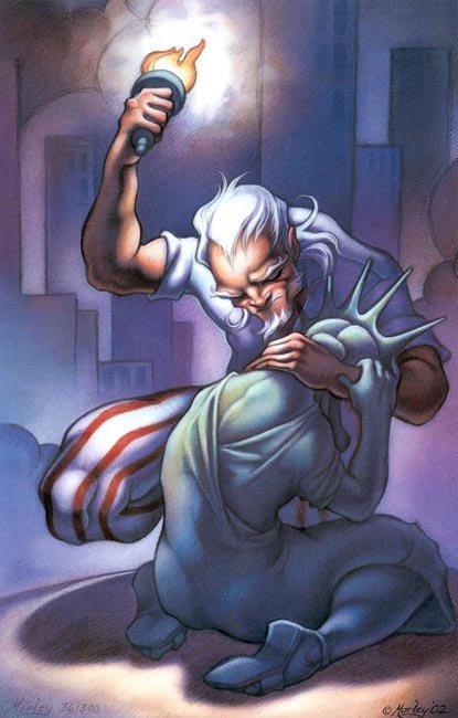 lady liberty crying